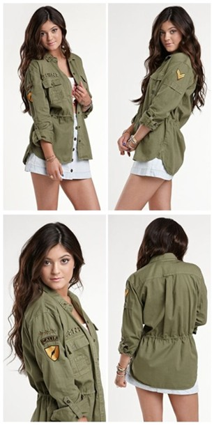 Jacket: utility jacket, army green jacket, fashion - Wheretoget