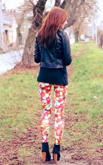 print pants adorable candy