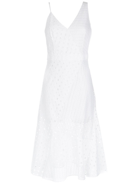 Giuliana Romanno dress midi dress women midi lace cotton
