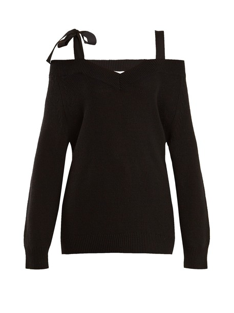 REDValentino top open wool black