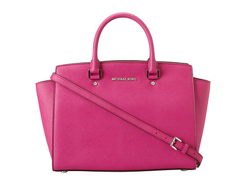MICHAEL Michael Kors Selma Large TZ Satchel Fuschia - Zappos.com Free Shipping BOTH Ways