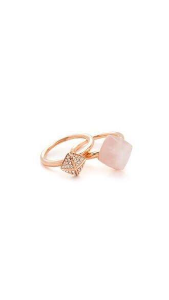 rose gold rose clear gold blush jewels