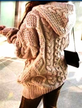 sweater hoodie knit hoodie knitted sweater sweater hoodie cute tumblr tumblr girl tumblr sweater oversized sweater winter sweater cute sweaters girly jacket