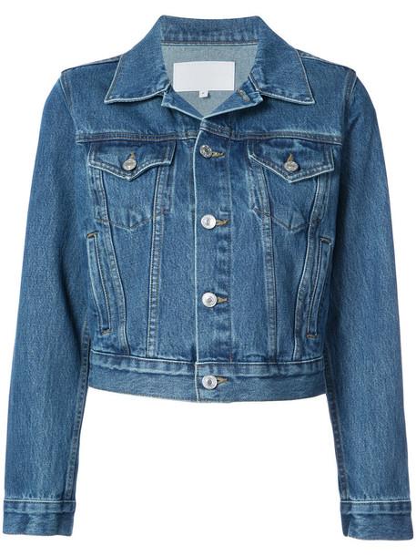 Re/Done jacket women classic cotton blue