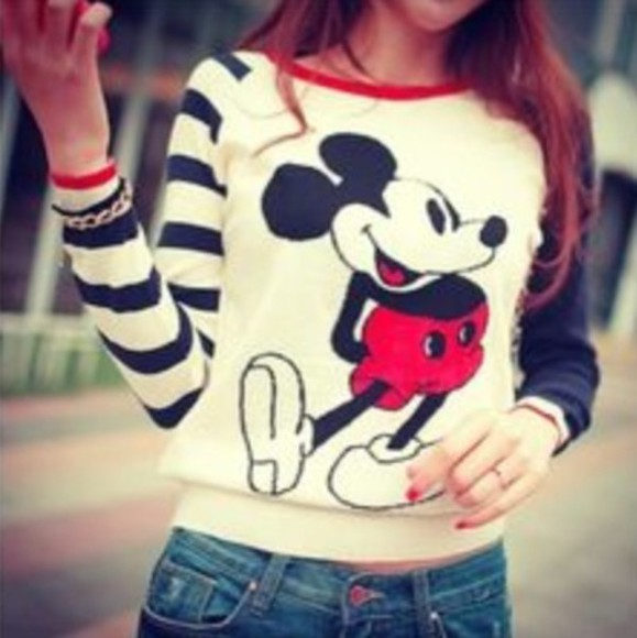 mickey mouse t-shirt sweater