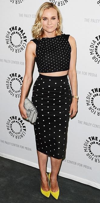 dress crop tops polka dots