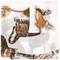 Dolce & gabbana bengal cat print scarf, women's, white, silk
