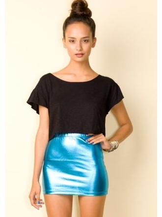skirt metallic skirt blue skirt mini skirt pencil skirt metallic