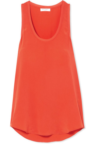 Equipment silk orange bright top