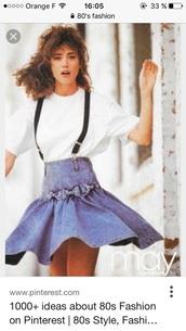 skirt,denim skirt,skirt with suspenders