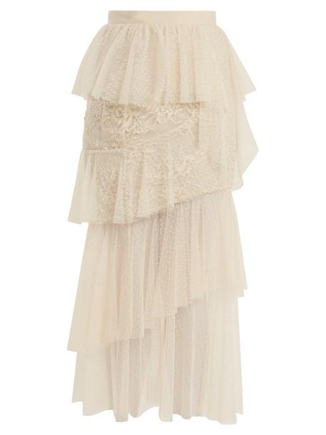 Elie Saab skirt tulle skirt lace