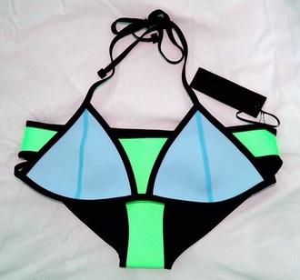 swimwear blue swimwear black bikini
