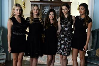 romper dress little black dress black playsuit formal wear embellished collar pretty little liars shay mitchell