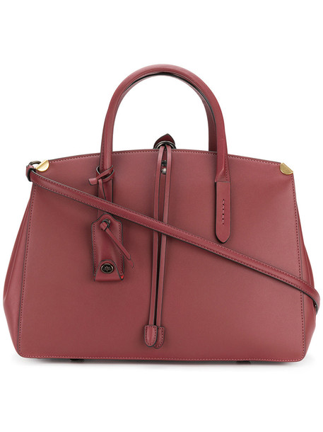 coach women bag leather red