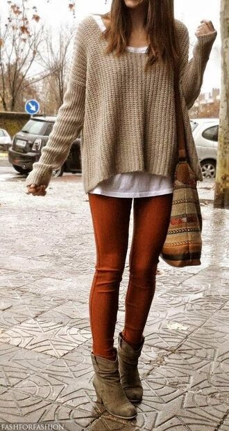 wheretoget? beige sweater beige