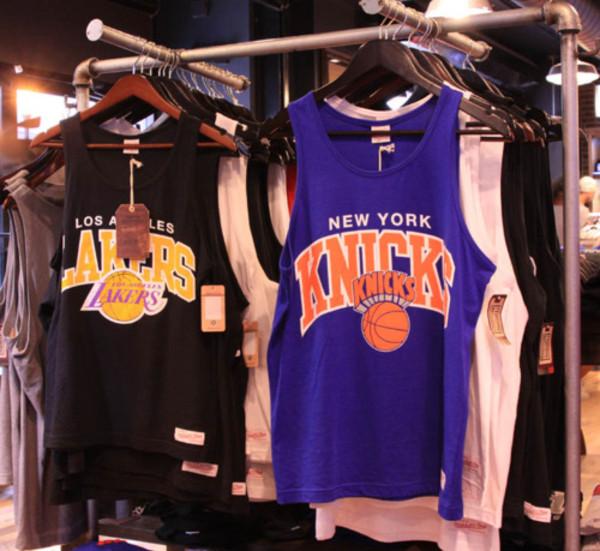 t-shirt knicks lakers sportswear