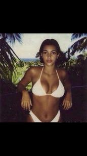 swimwear,kim kardashian,high waisted bikini