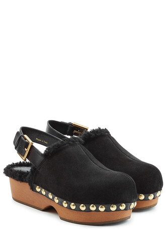 clogs suede black shoes