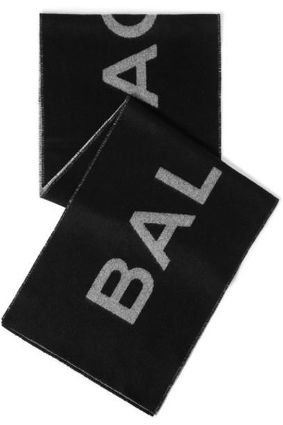 Balenciaga scarf black wool