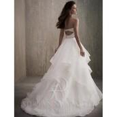 dress,adrianna,platinum hair,a line prom gowns,wedding dress,flowers
