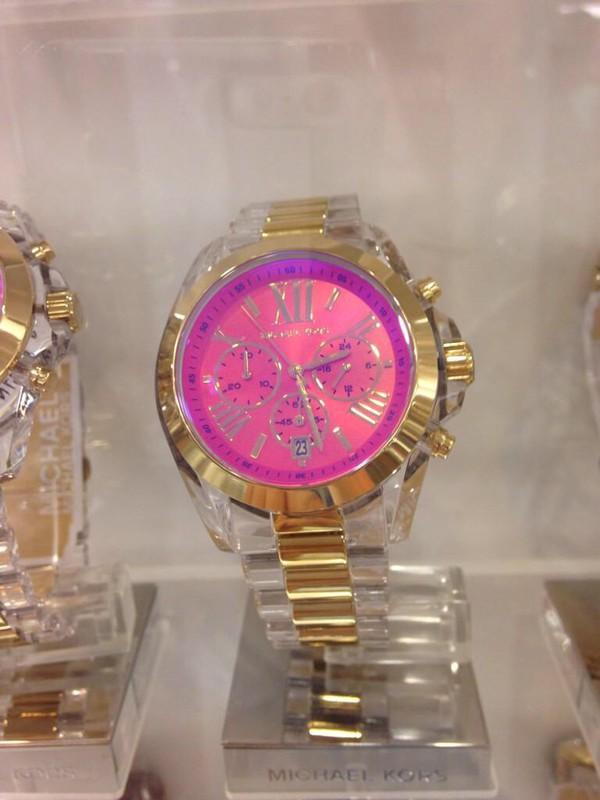jewels mk michael kors watch  gold pink k