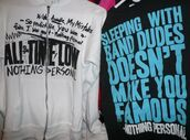 shirt,all time low,pierce the veil,music,band merch,t-shirt,band,sleeping with sirens,panic! at the disco,fall out boy,mayday parade