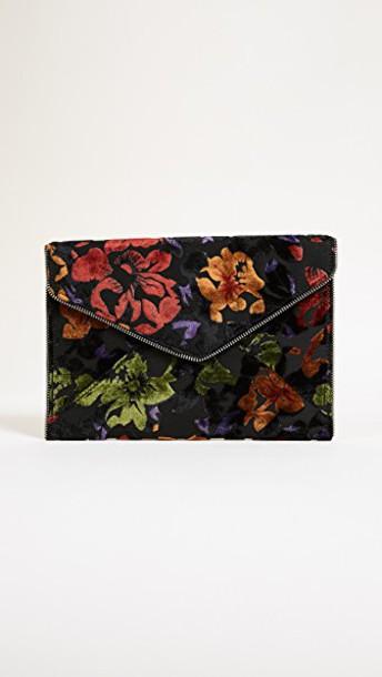 Rebecca Minkoff clutch velvet floral bag