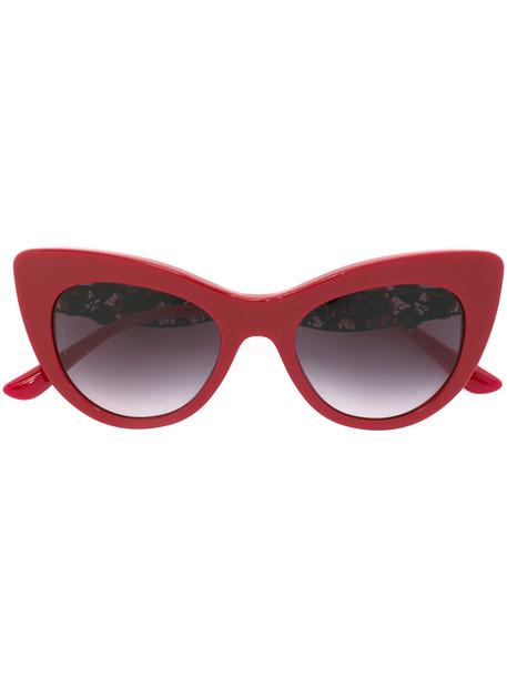 1f72e62b Dolce & Gabbana Dolce & Gabbana lace bouquet sunglasses, Women's, Red,  Acetate/Swarovski Crystal/metal