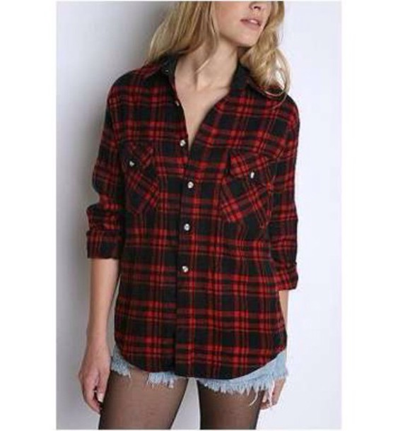 shirt red flannel shirt