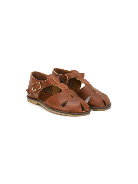 PePe sandals leather brown shoes