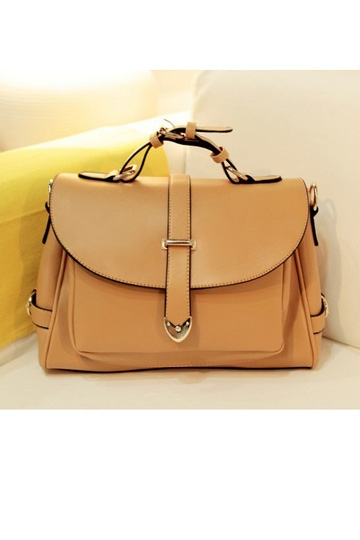 Retro Buckled Flap Satchel [FPB295]- US$53.99 - PersunMall.com