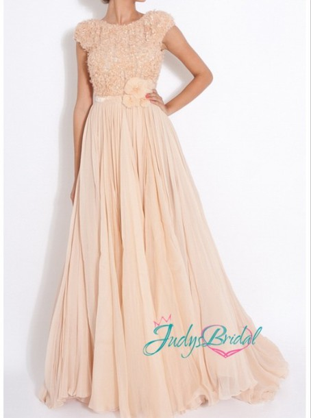 dress open back long dress sequence flowers prom prom dress peach dress open back prom dress straps dress long prom dress dress fashion