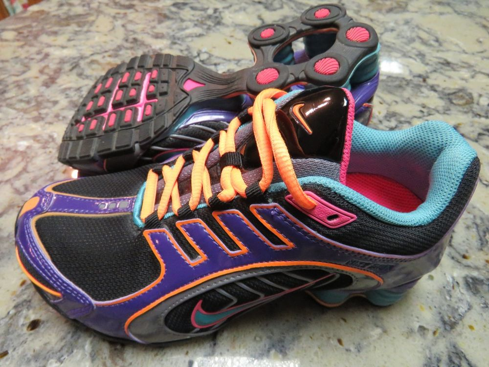 NIKE Shox Navina Limited Running Shoes Black Turquoise 356918-038 Womens  Size 6