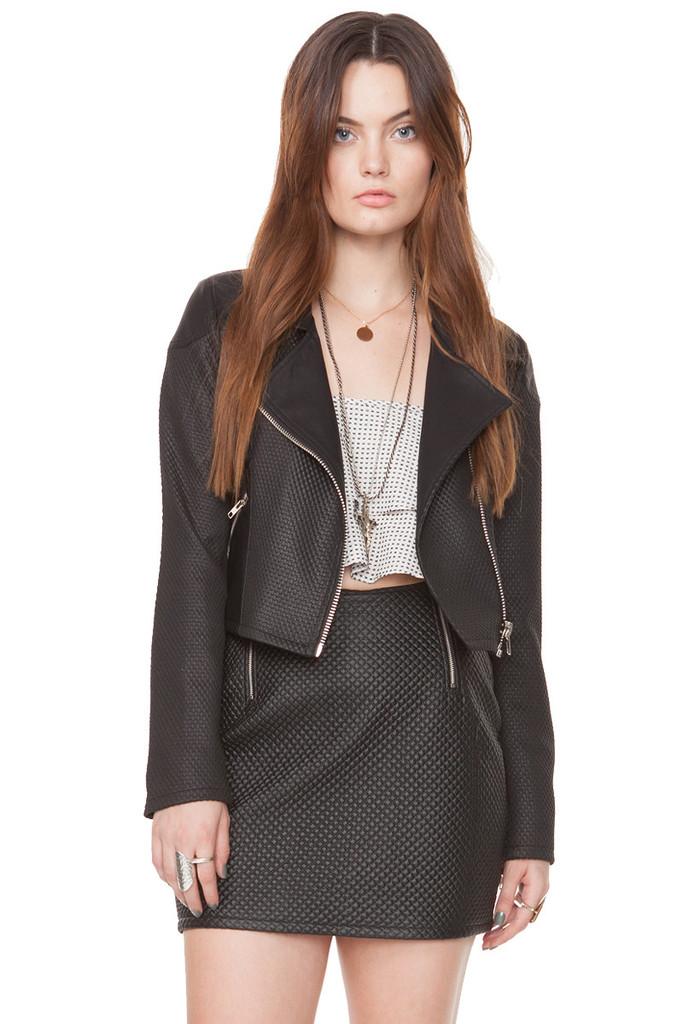 Moto zip lining jacket