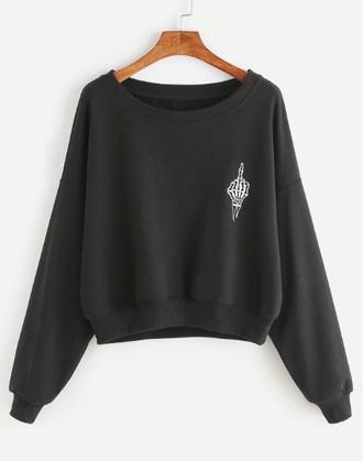 sweater black black sweater