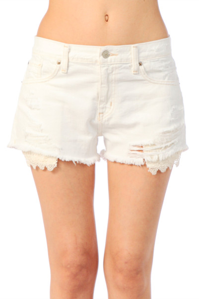 Short mini en coton White