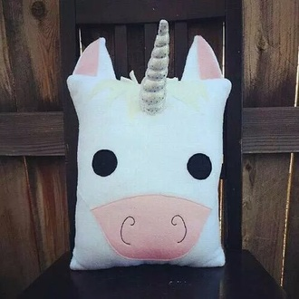 home accessory pillow unicorn cool pink white love