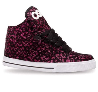 pink and black high top sneakers osiris sneakers girly black laces lace