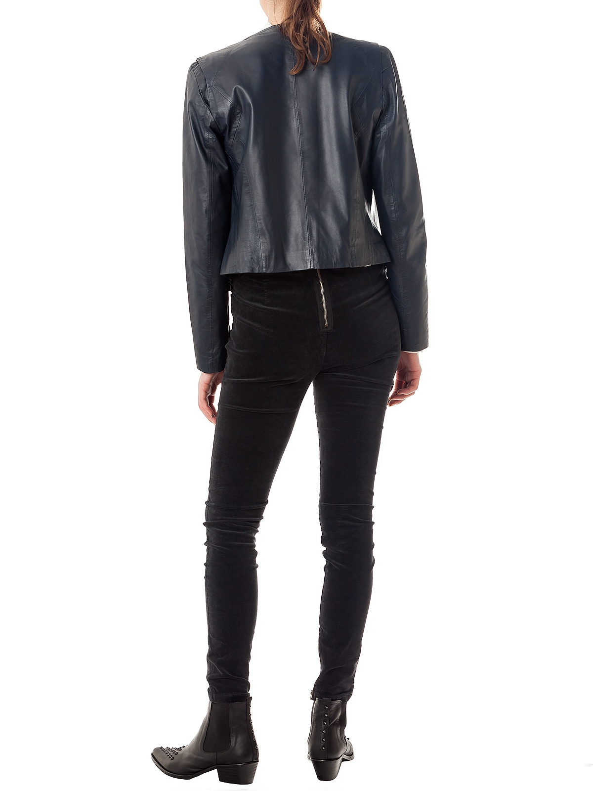 MIRA BLACK PERFECTO JACKET | GIRISSIMA.COM - Collectible fashion to love and to last