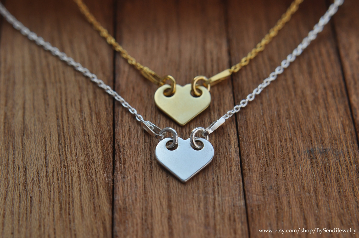 Small heart necklace / delicate heart necklace / silver 925 / chain heart / gold plated / gold plated silver / necklace with heart / pendant