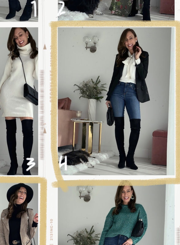 9 Ways to Wear Black Over the Knee Boots | Sydne Style