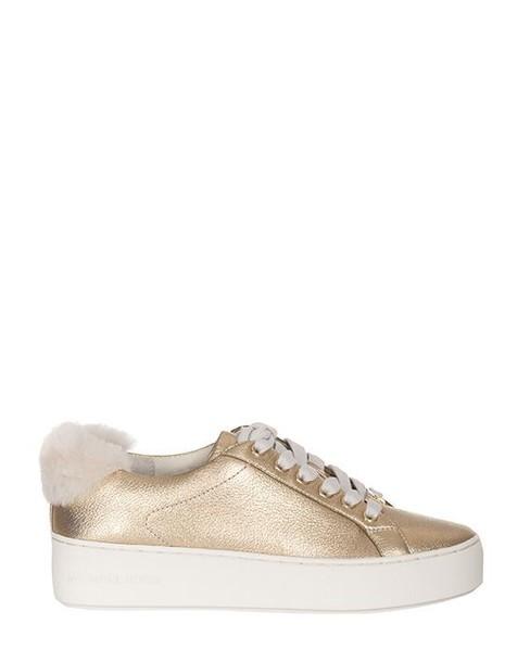 Michael Kors metallic sneakers metallic sneakers pale gold shoes