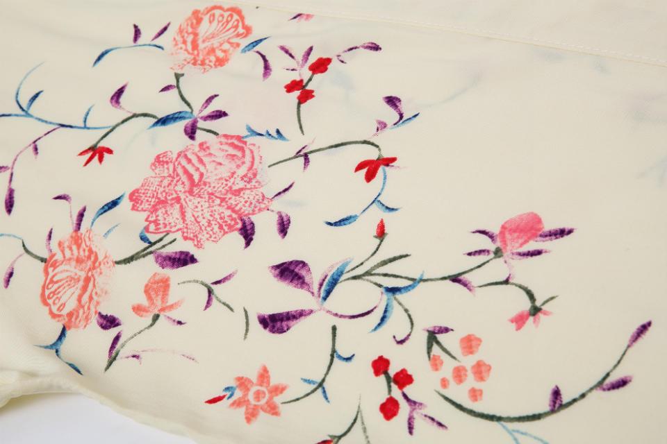 Apricot Half Sleeve Floral Tassel Kimono - Sheinside.com