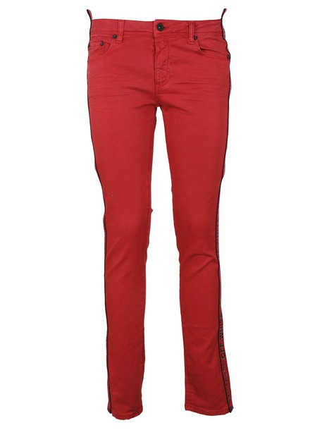 Off-White jeans skinny jeans red