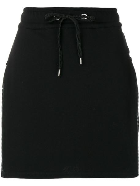 Versus skirt zip women cotton black