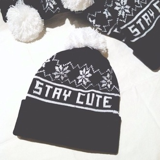 hat beanie fashion style pom pom beanie winter hat cute