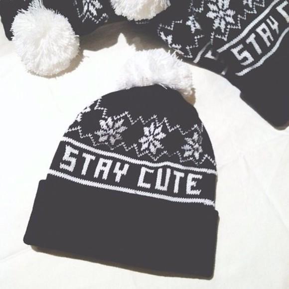 fashion style hat winter hat cute