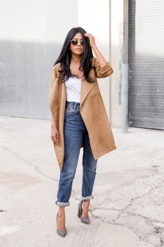 le fashion image blogger sunglasses jacket t-shirt jeans shoes