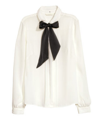 blouse shirt bowtie bow tie pussybow