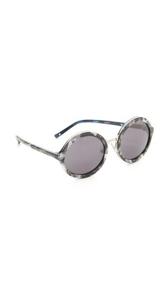pearl sunglasses round sunglasses black grey
